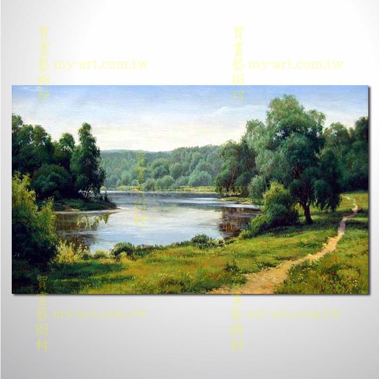 古典风景10,横幅,风景油画,山水油画,纯手绘,客制临摹画,开运画,装饰