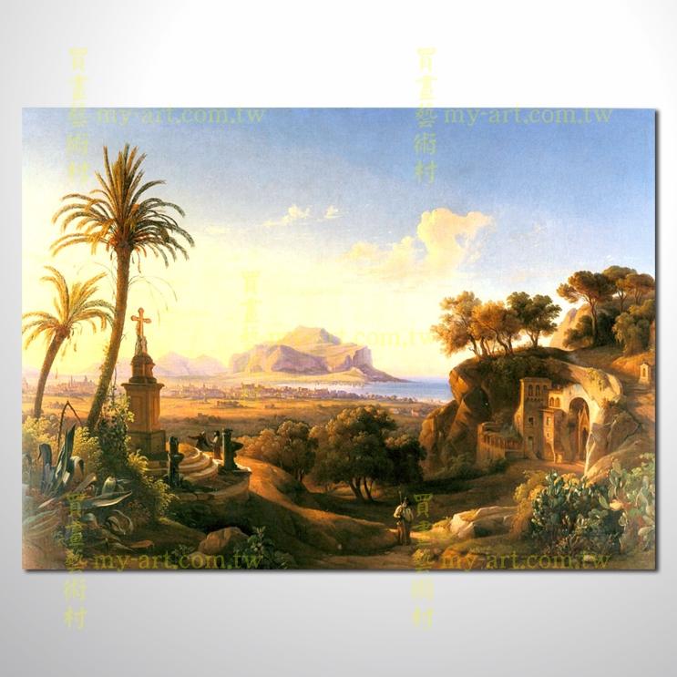 古典風景118,橫幅,風景油畫,山水油畫,純手繪,客制臨摹畫,開運畫,裝飾