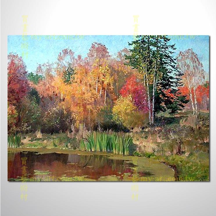 树林61,横幅,风景油画,山水油画,纯手绘,客制临摹画,装饰挂画,居家