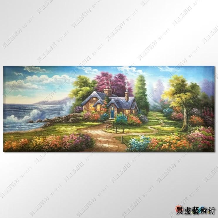 【临摹名画】托马斯花园景02a 欧式风景画