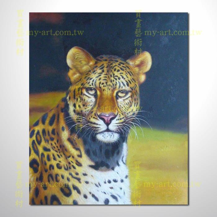 豹子13,动物油画,竖幅,纯手绘油画,客制临摹画,装饰挂画,装潢挂画