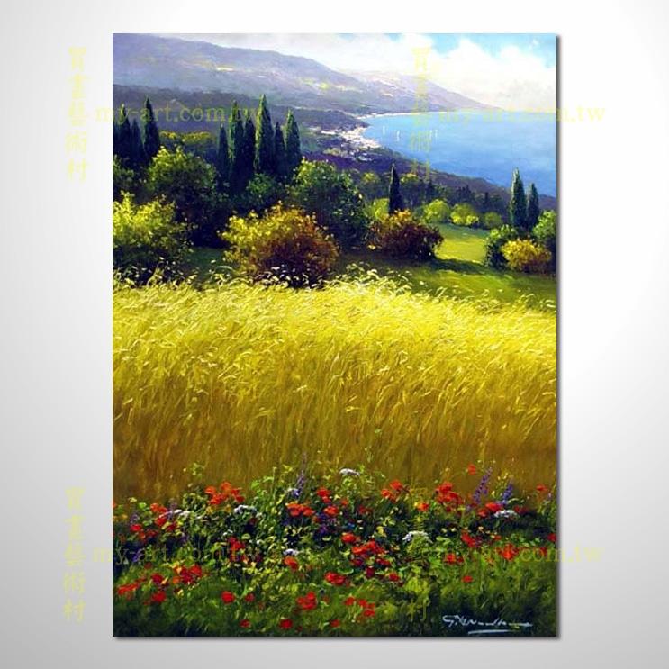 花田景3259,竖幅,风景油画,居家布置,手绘写实,装饰艺术画,门市,饭店