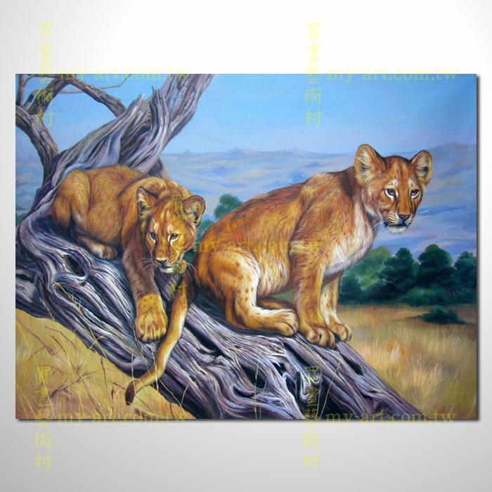 豹子05,动物油画,横幅,纯手绘油画,客制临摹画,装饰挂画,装潢挂画