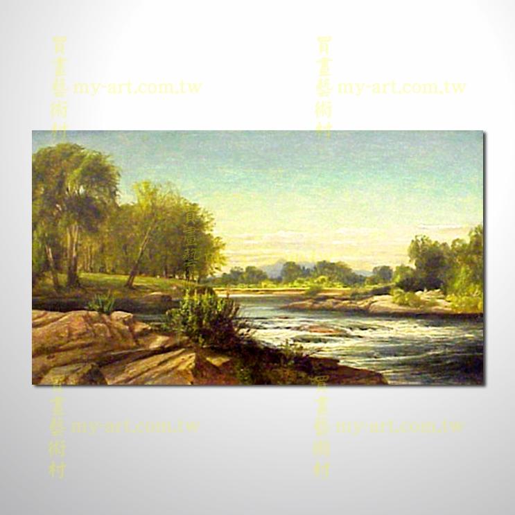 古典风景17,横幅,风景油画,山水油画,纯手绘,客制临摹画,开运画,装饰