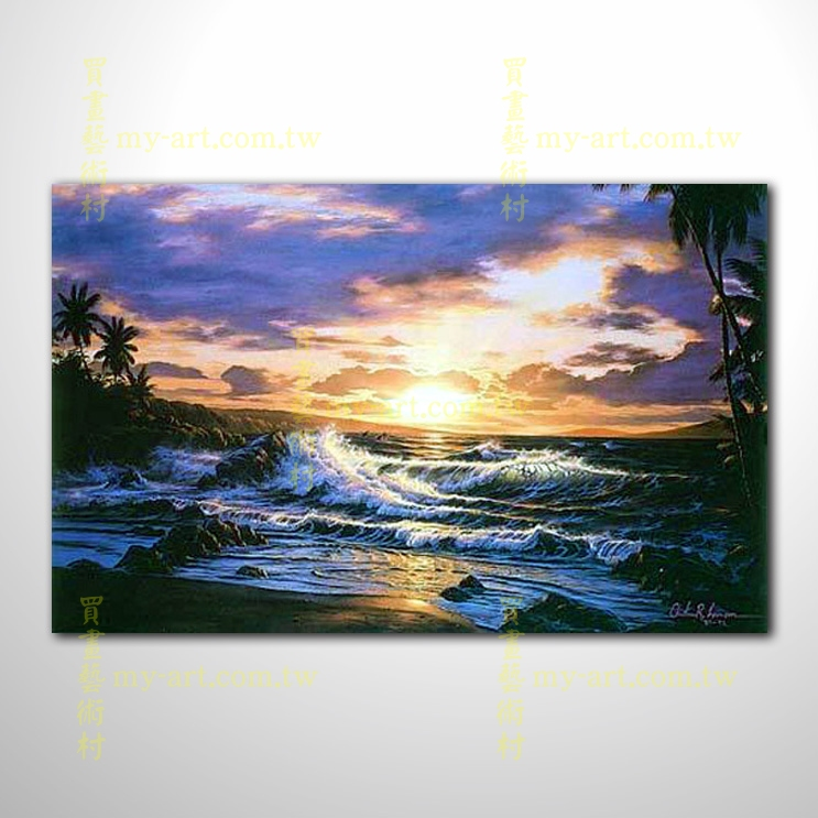 【風景油畫】海景11
