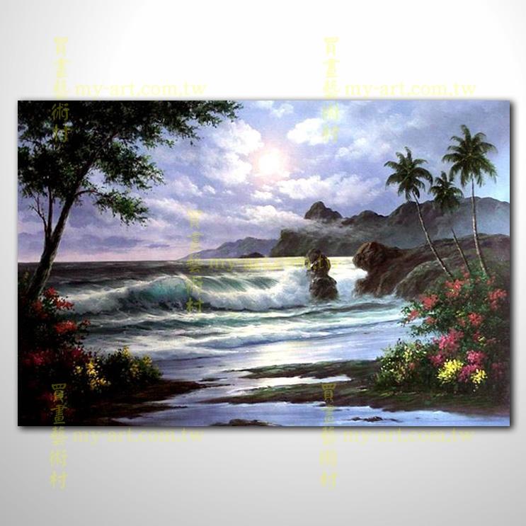 【風景油畫】海景29