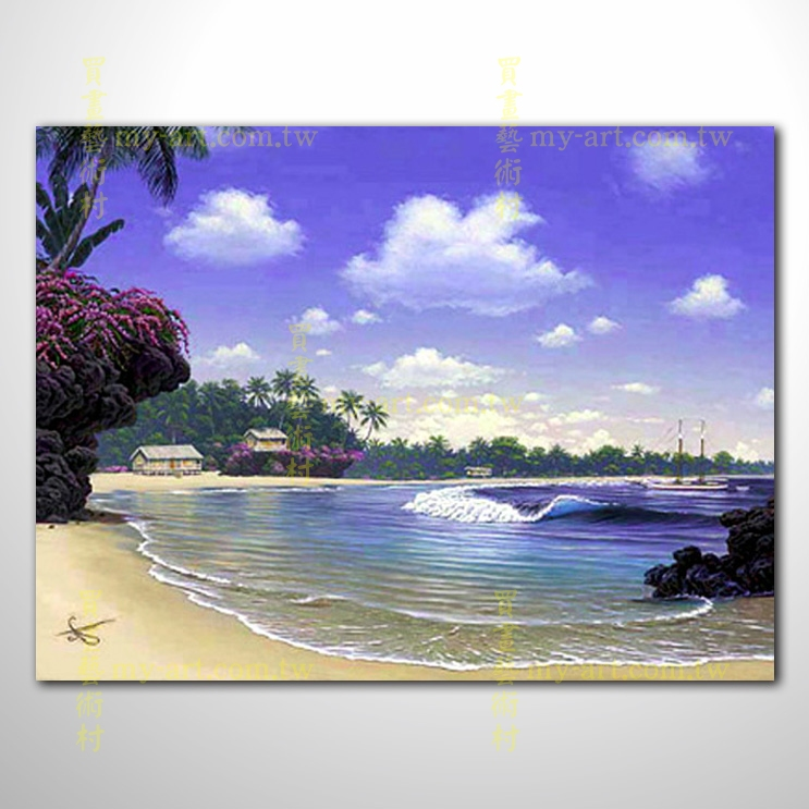 【風景油畫】海景40