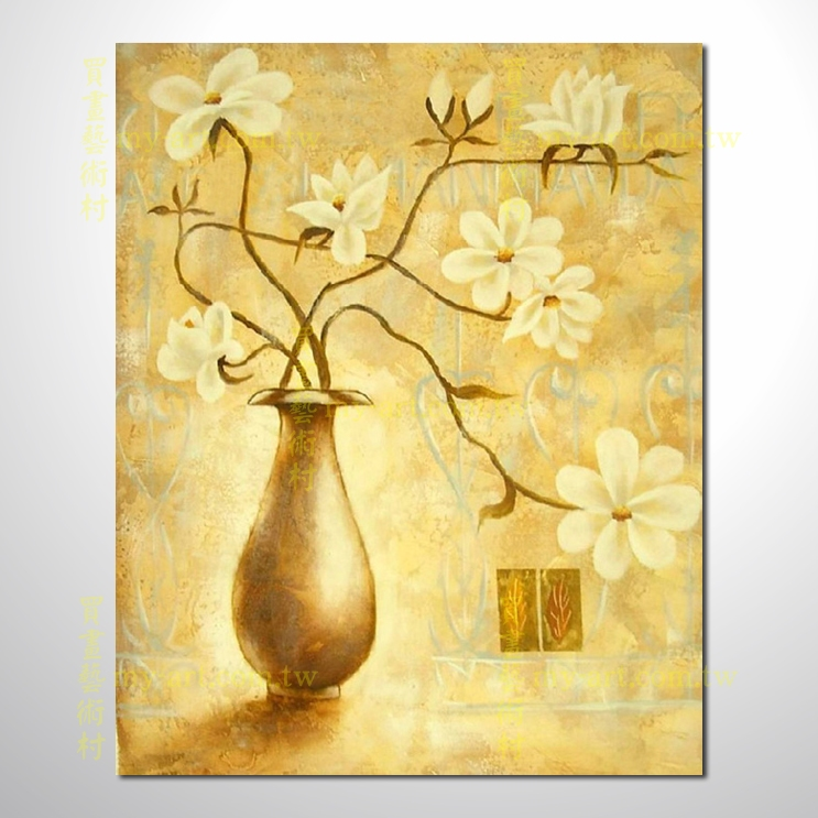【花卉油畫】花卉60