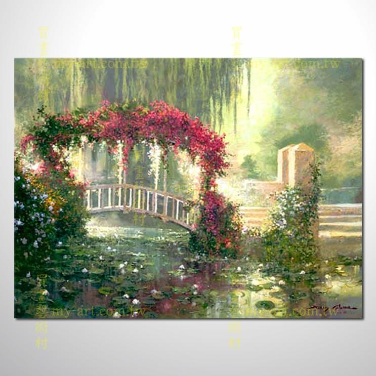 【风景油画】印象花园景118