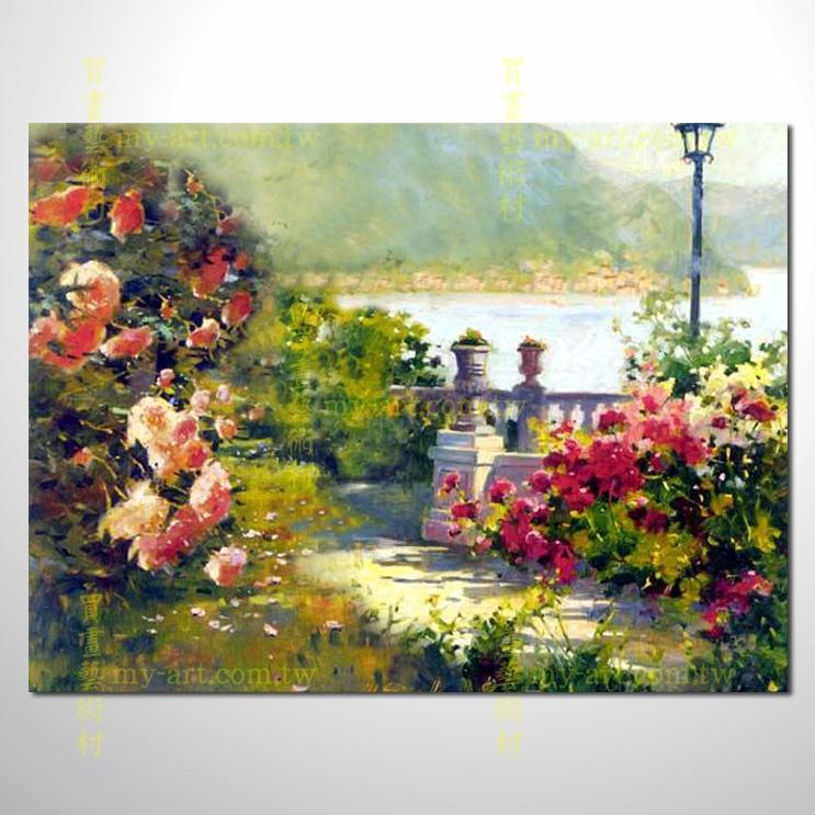 【风景油画】印象花园景40