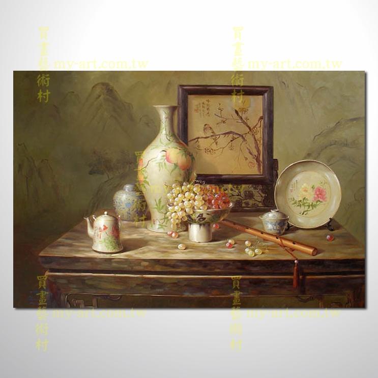 靜物瓷器12,橫幅,純手繪油畫,客製臨摹畫,裝飾掛畫,裝潢掛畫,居家佈置,門市,飯店,餐廳,民宿,辦公室,室內設計首選