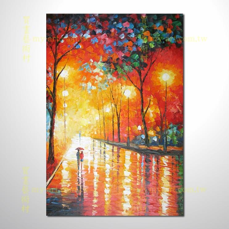 浪漫雨夜01,豎幅,純手繪油畫,客製臨摹畫,裝飾掛畫,裝潢掛畫,居家佈置,門市,飯店,餐廳,民宿,辦公室,室內設計首選