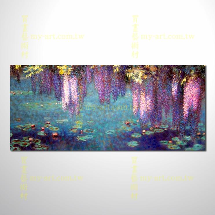 【花卉油畫】睡蓮75