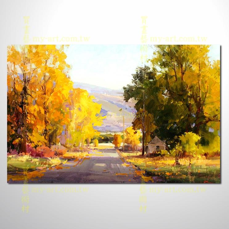 樹林19,橫幅,風景油畫,山水油畫,純手繪,客制臨摹畫,裝飾掛畫,居家