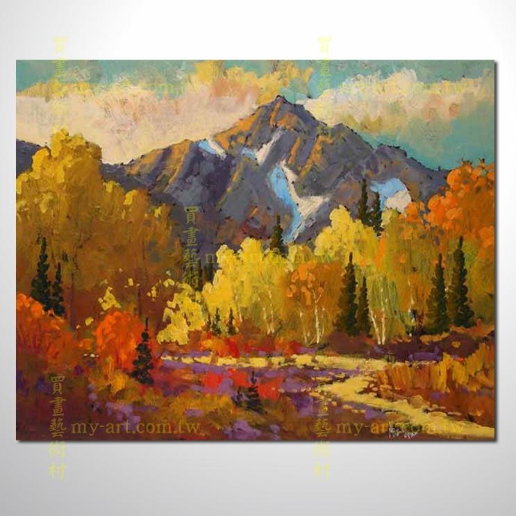 树林20,横幅,风景油画,山水油画,纯手绘,客制临摹画,装饰挂画,居家