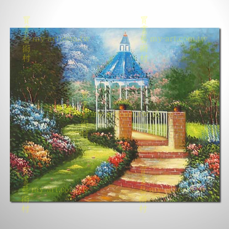 横幅 临摹托马斯名画 欧式风景画 居家布置 纯手绘写实 装饰艺术画