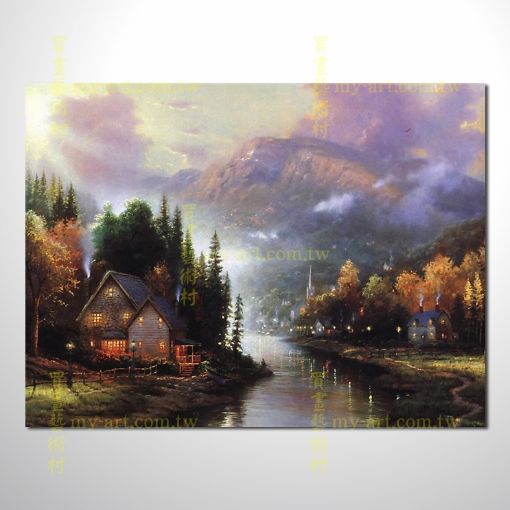 【臨摹名畫】托馬斯花園景38,橫幅,歐式風景畫,居家佈置,純手繪寫實,裝飾藝術畫,風景畫,藝術油畫,高品質油畫,精品,裝潢,居家設計最愛