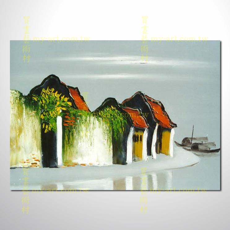 越南景121,橫幅,純手繪油畫,客製臨摹畫,裝飾掛畫,裝潢掛畫,居家佈置,門市,飯店,餐廳,民宿,辦公室,室內設計首選