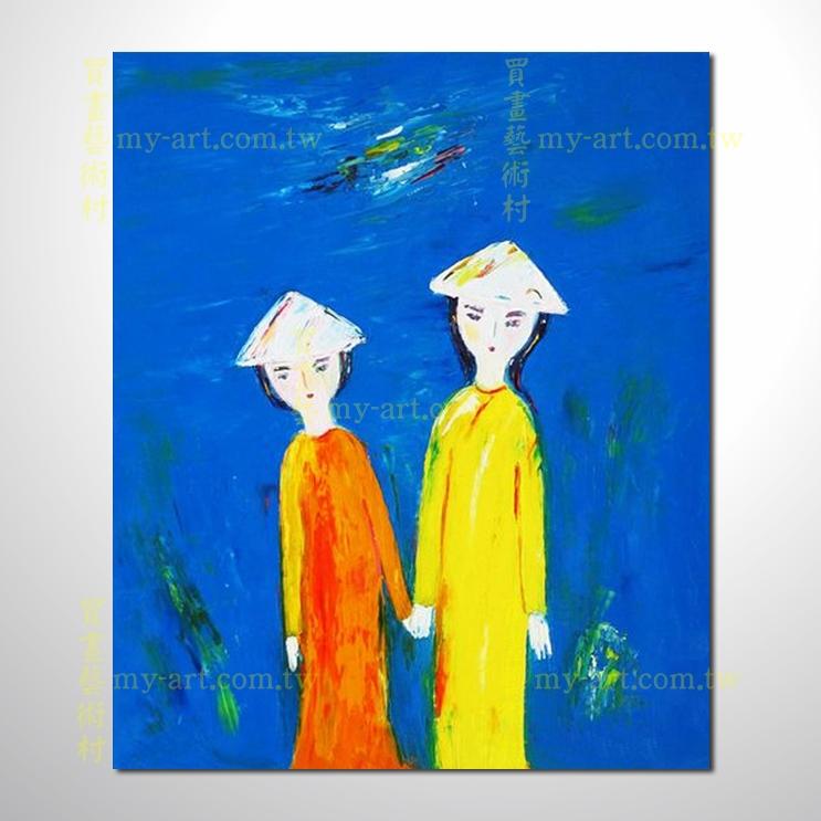 越南景30,豎幅,純手繪油畫,客製臨摹畫,裝飾掛畫,裝潢掛畫,居家佈置,門市,飯店,餐廳,民宿,辦公室,室內設計首選